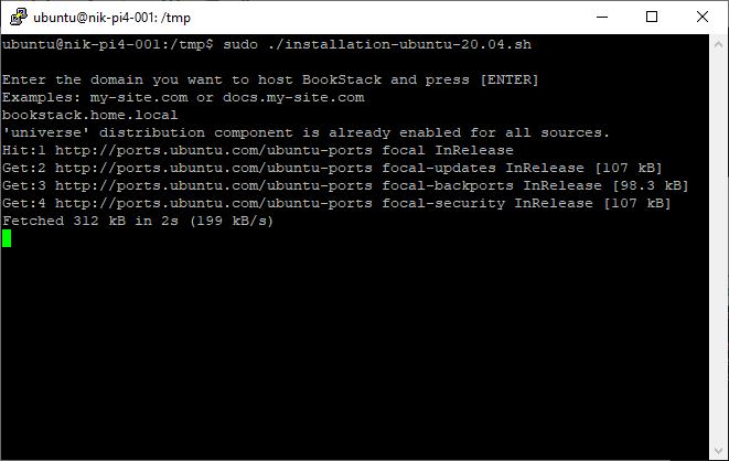 Ubuntu 20.04: How to install BookStack wiki on Raspberry Pi4 running Ubuntu 20.04 server.