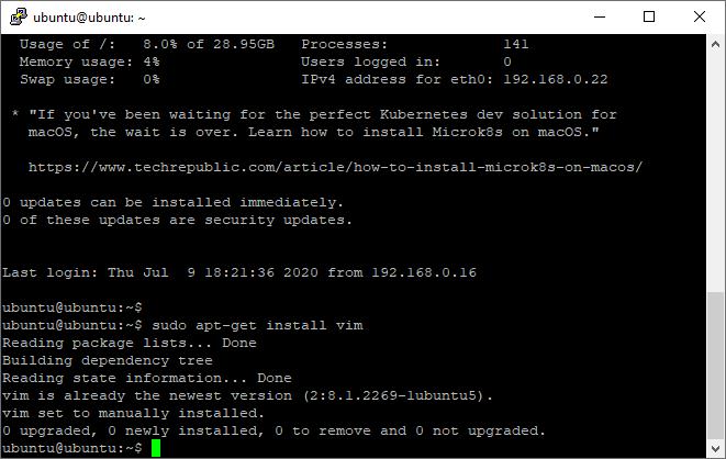 Ubuntu 20.04: How too install vim on Ubuntu 20.04 Server