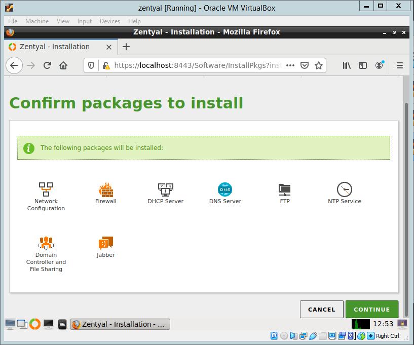 Zentyal 6.2: Configuring newly installed Zentyal 6.2 Server.