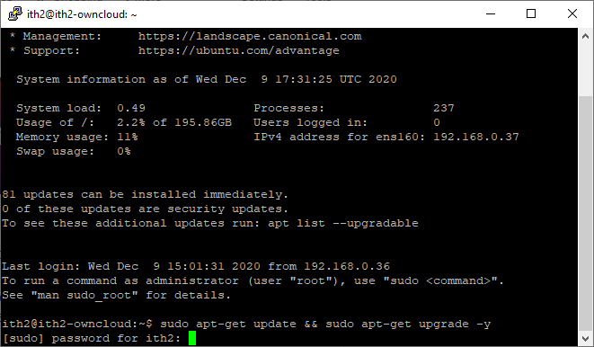 How to update Ubuntu 20.04 in one command - update command
