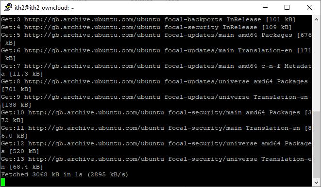How to update Ubuntu 20.04 in one command - updates running