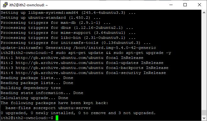 How to update Ubuntu 20.04 in one command - Successfully updated.