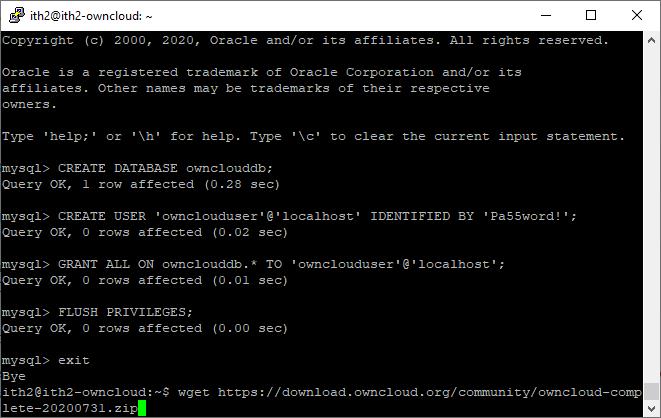 Installing Owncloud on Ubuntu 20.04 - Download Owncloud.zip