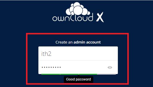 Installing Owncloud on Ubuntu 20.04 - Create Admin User.