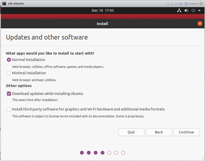 How to install Ubuntu 20/04 Desktop - Updates and other software.