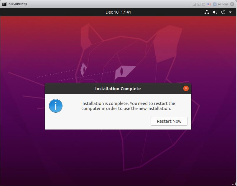 How to install Ubuntu 20/04 Desktop - Install finished.