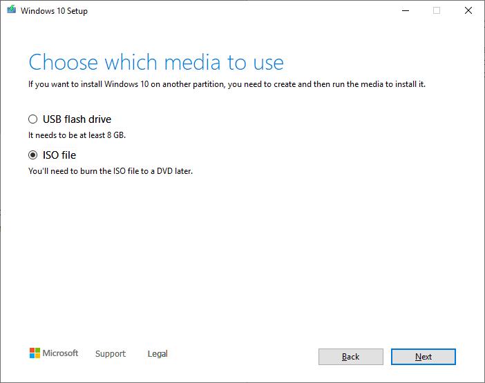 Create a Windows 10 ISO - make iso