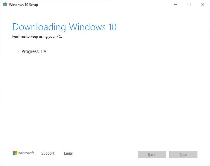 Create a Windows 10 ISO - saving iso