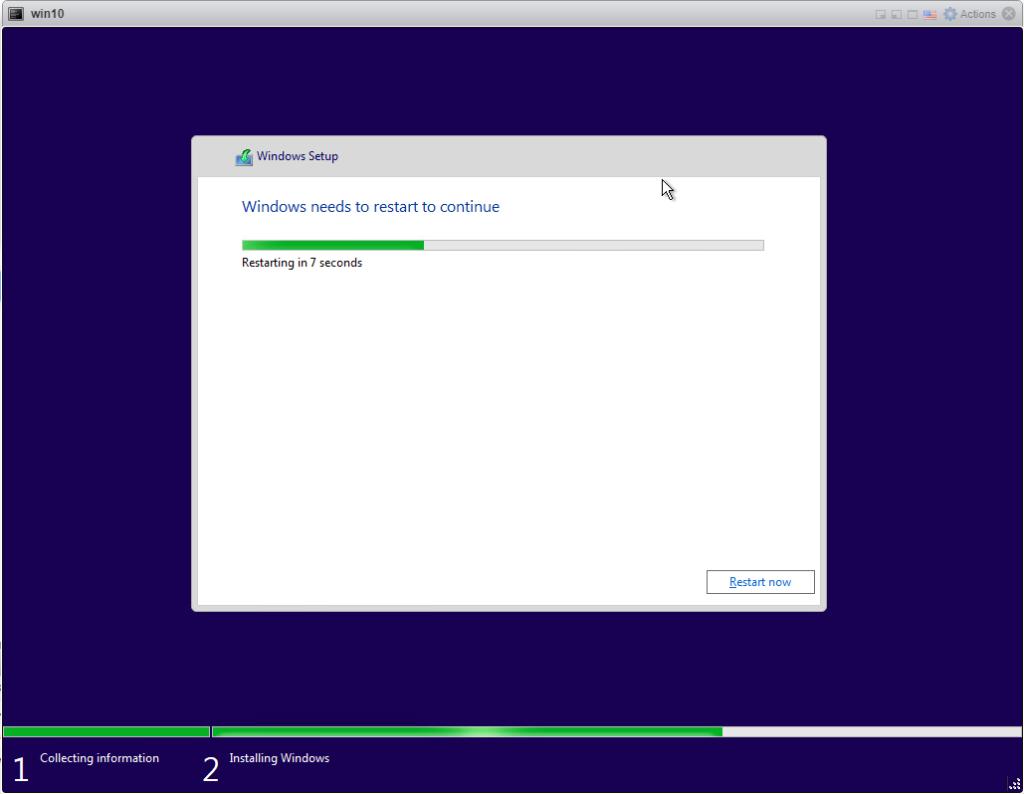 Create a Windows 10 ISO - restarting