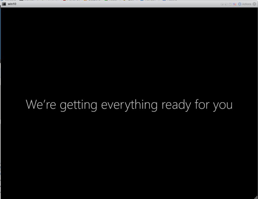 Installing Windows 10 Pro - User profile loading.