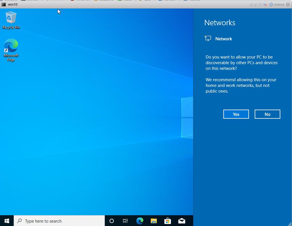 Installing Windows 10 Pro - logs in finally