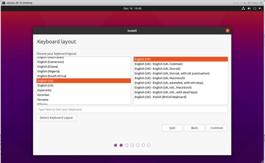 Ubuntu 20.10 - Keyboard layout