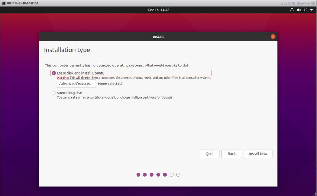 Ubuntu 20.10 - Disk Options