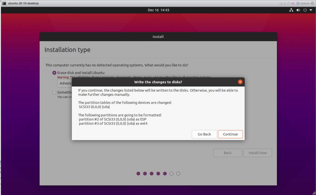Ubuntu 20.10 - Continue