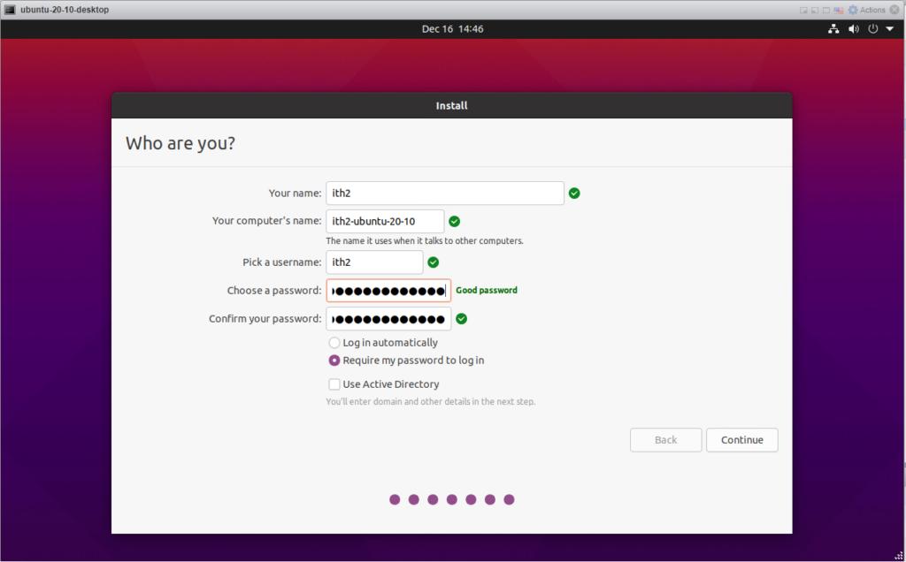 Ubuntu 20.10 - PC and user details