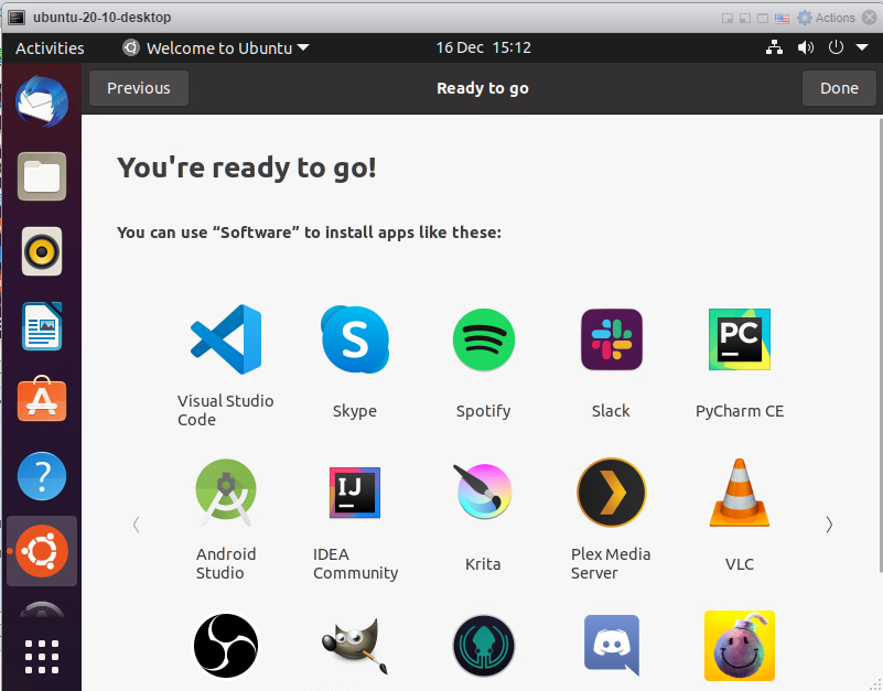 Ubuntu 20.10 - Done