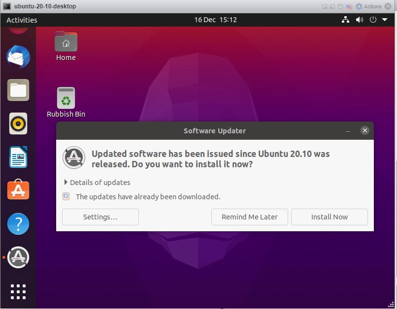 Ubuntu 20.10 - Install updates