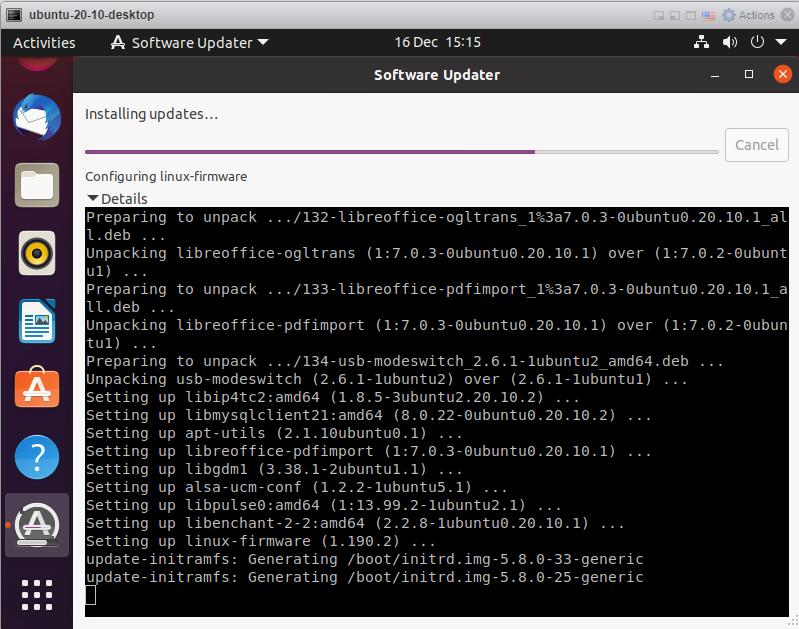 Ubuntu 20.10 - Wait