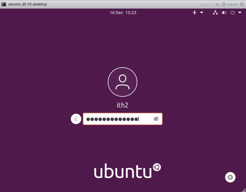 Ubuntu 20.10 - Login