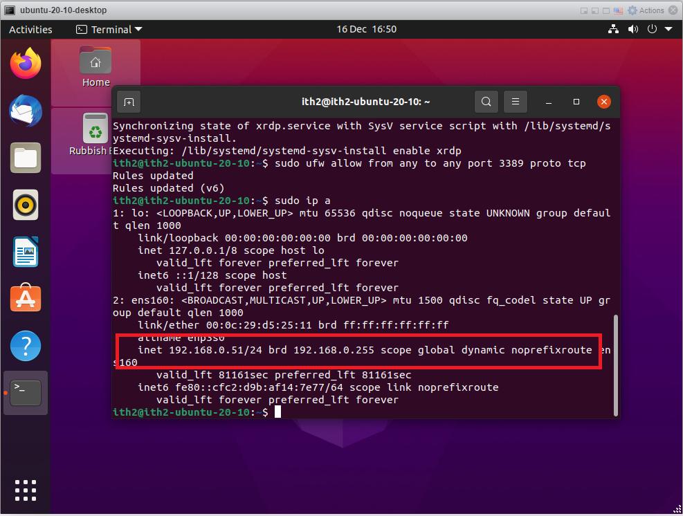 RDP - Get IP