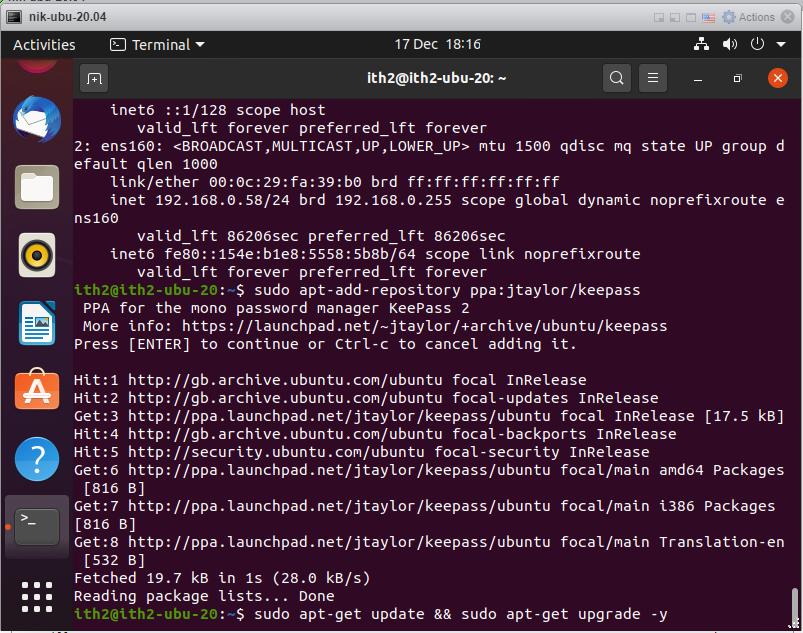 How to install Keepass on Ubuntu 20.04: