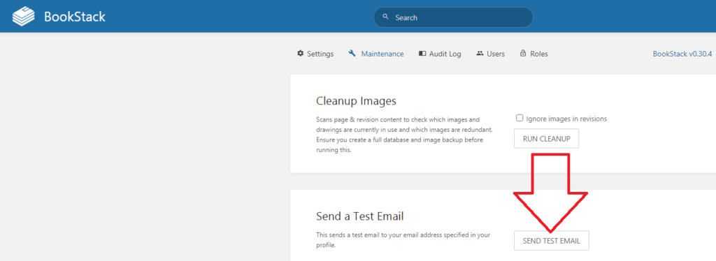 How to setup Bookstack Email.