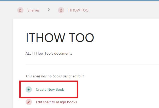 Bookstack Initial Setup - Add new book