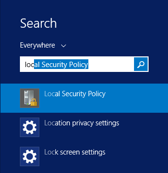 Disable Windows Server 2012 R2 users password expiry - Select Local Security Policy