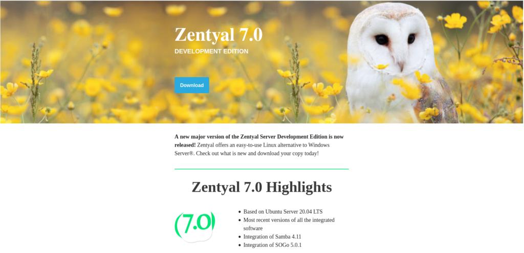 Zentyal 7 released today (27/01/2021)