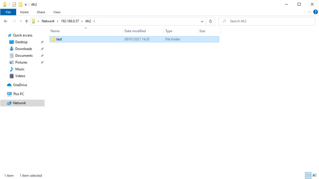 create test folder