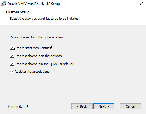 Windows 10: Download and Install VirtualBox.