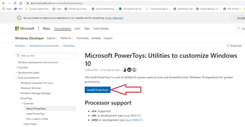 Windows 10 PowerToys 1.
