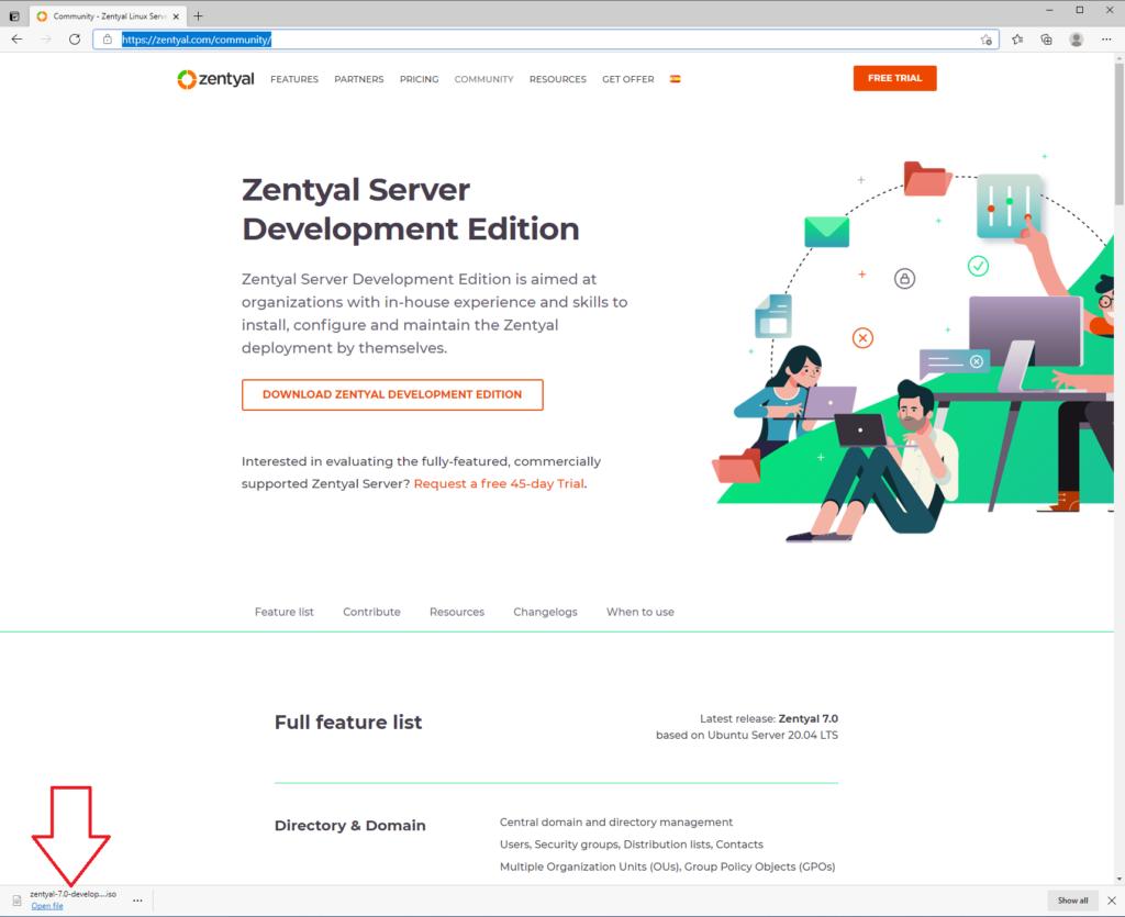 Zentyal Community Edition 7.0: How to Download Zentyal Community Edition 7.0 Server ISO.