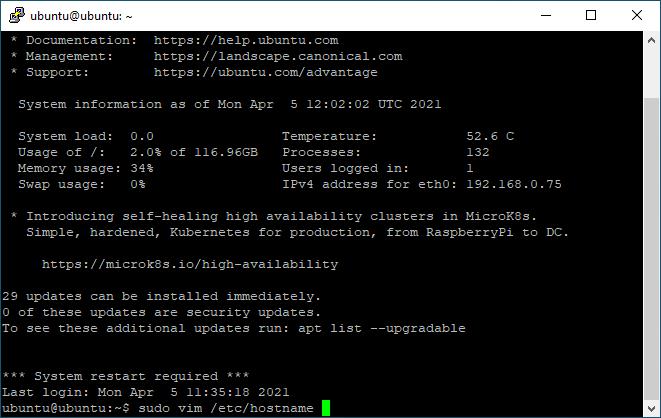 Initial Ubuntu Server 20.04 setup on a freshly installed Ubuntu 20.04 server