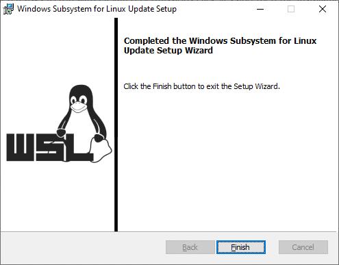 Installing WSL2 on Windows 10